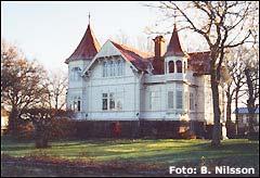 Wollinska villan i Borghol på Öland